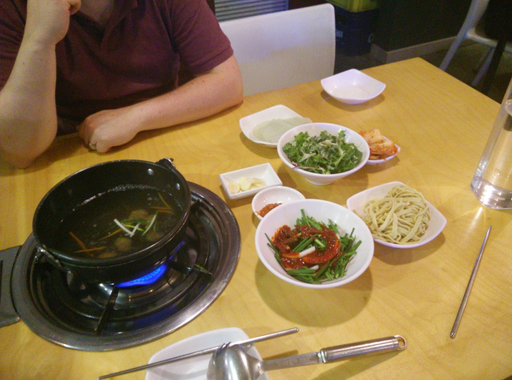 You will always get side dishes with a meal in Korean