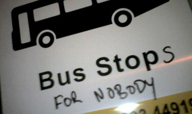 Grumpy bus drivers are not unusual