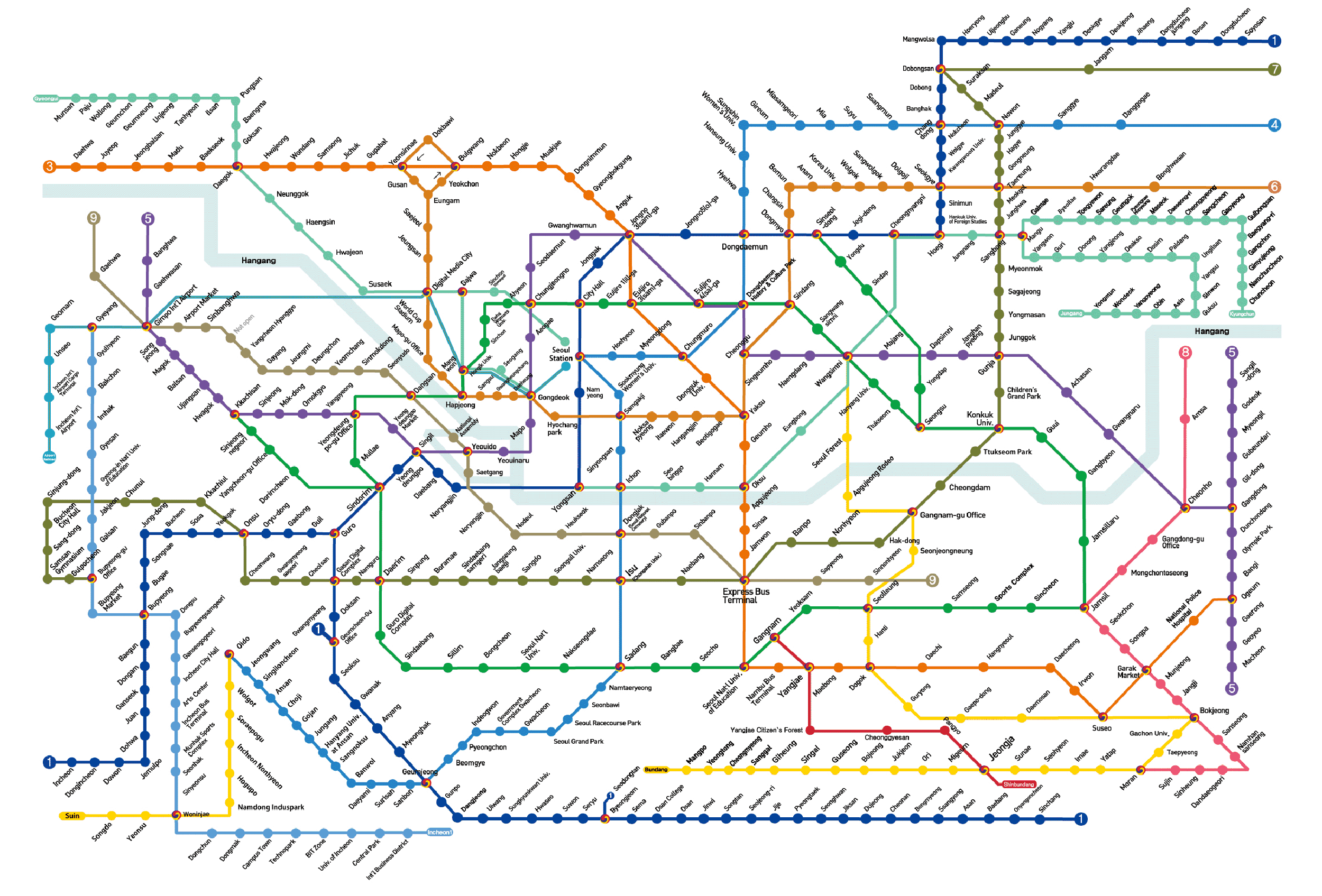 Seoul Subway Map 2015.Seoul Subway Map 2016 Time Zones Map